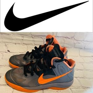 Nike Air Hyperfuse Orange and Gray
